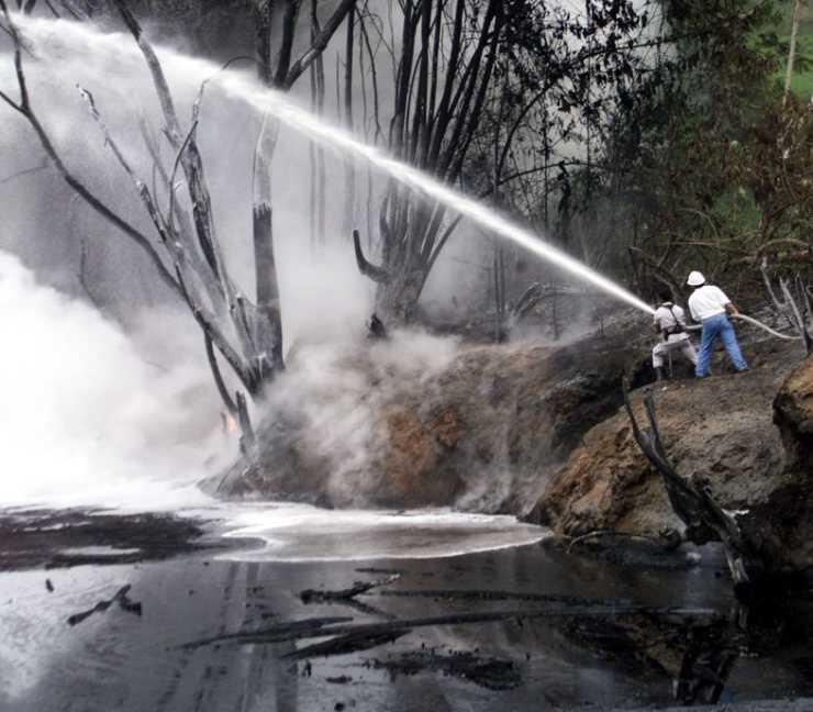 Ölsee in Ecuador