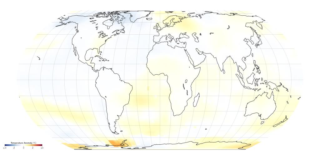 Grafik Globale Erderwärmung 1970-1974
