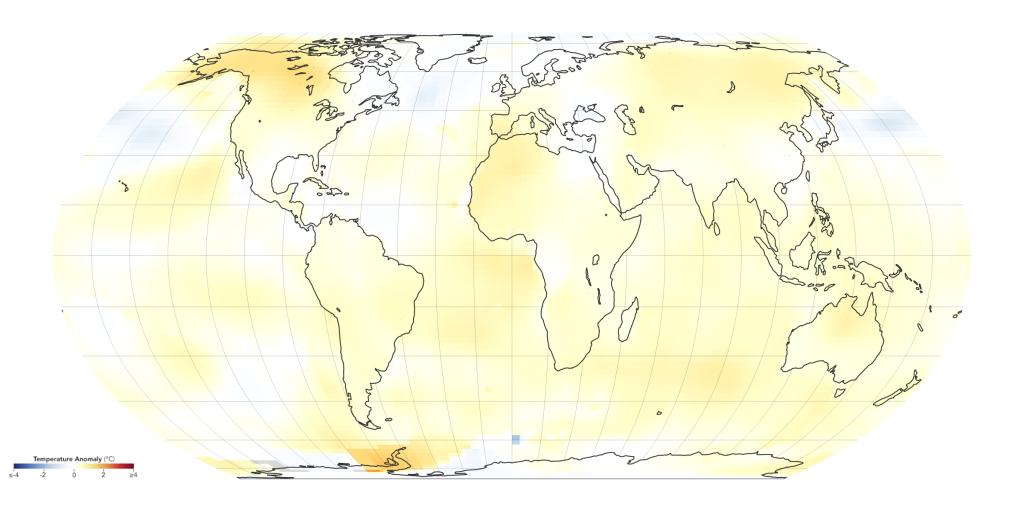 Grafik Globale Erderwärmung 1985-1989
