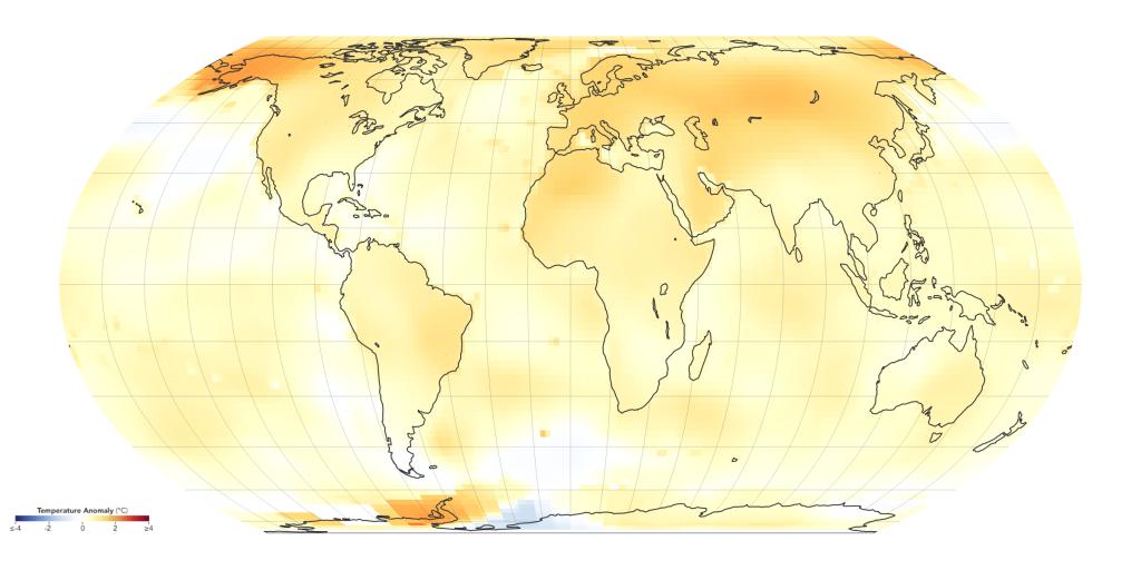 Grafik Globale Erderwärmung 2000-2004