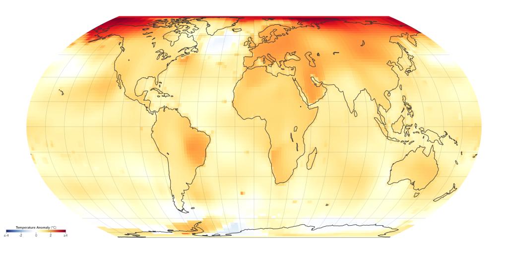 Grafik Globale Erderwärmung 2015-2019