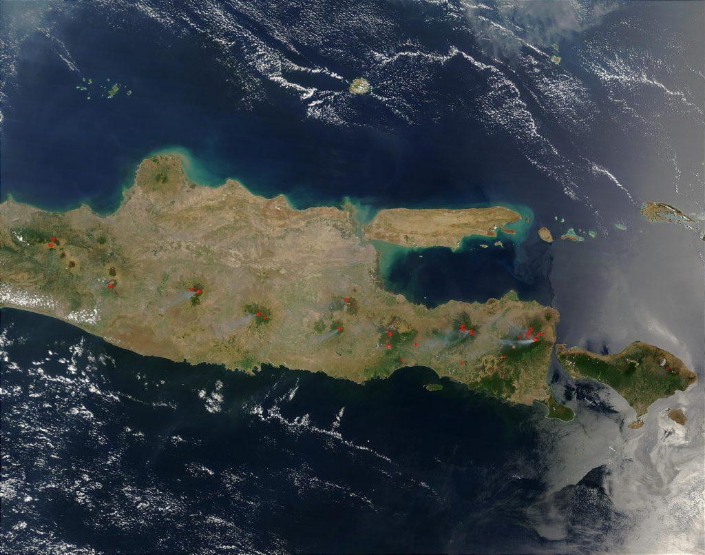 Satellitenaufnahme von Java
