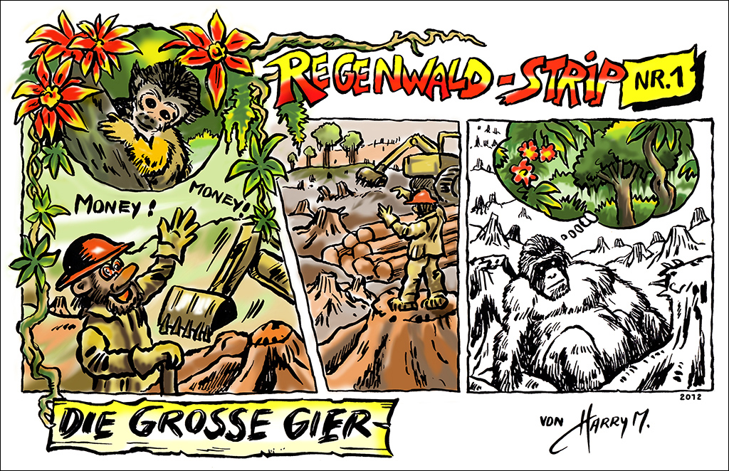 Regenwald-Strip Nr. 1
