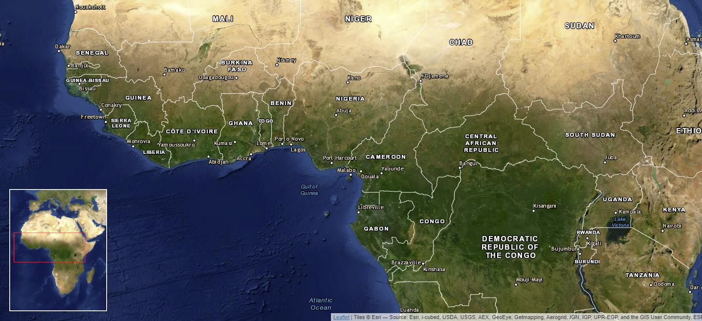 Der westafrikanische Kakaogürtel
